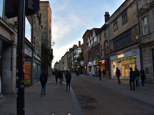 オックスフォードの市街地